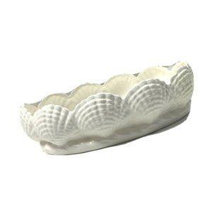 Vintage Signed Seashell Clam Large Bowl Dish Tray